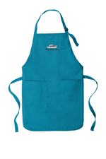 Port Authority ® Full-Length Two-Pocket Bib Apron - Sapphire