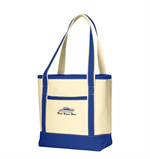 Port Authority® Medium Cotton Canvas Boat Tote - True Royal