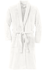 Port Authority® Plush Microfleece Shawl Collar Robe - Marshmellow