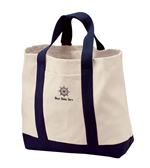 Port Authority® - Two-Tone Shopping Tote for Dad - Natural Navy