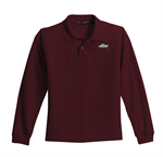 Port Authority - Youth Long Sleeve Silk Touch Polo - Burgundy