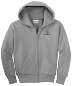 Port & Company - Youth Full-Zip Hooded Sweatshirt - Athletic  Heather