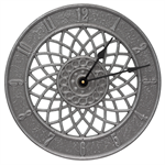 Spiral Indoor Outdoor Wall Clock - Pewter / Silver