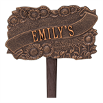 TLC Garden Personalized Lawn Plaque - Antique Copper