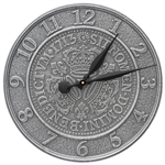 Three Crowns In Coin Personalized Indoor Outdoor Wall Clock - Pewter-Silver